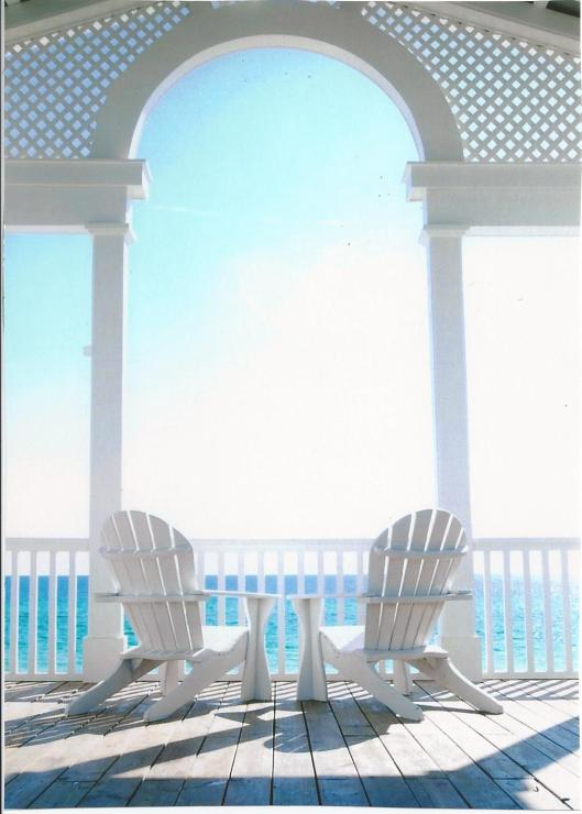 seaside photo with chairs