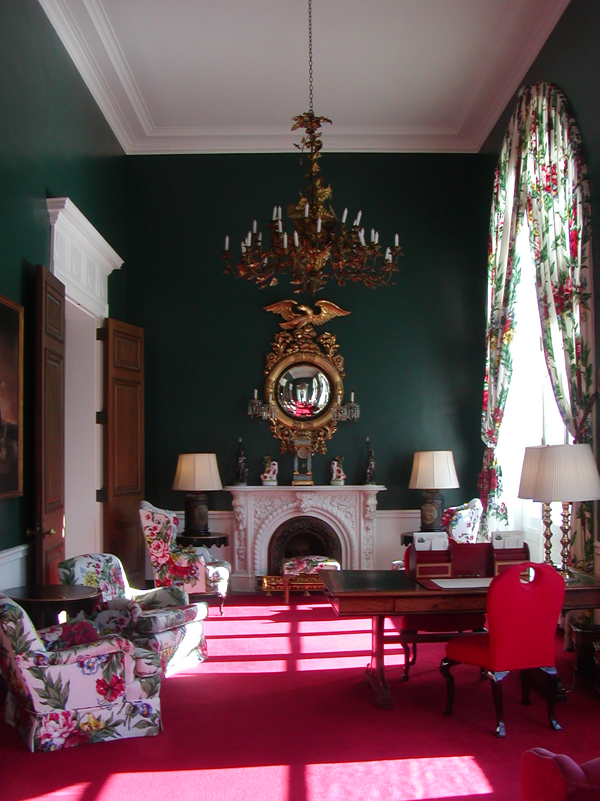 Red Living Room: Color At The Greenbrier Resort
