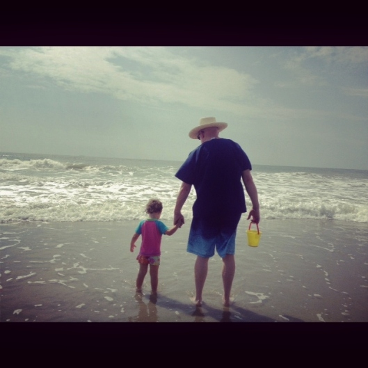 Taba and Gramps at Beach